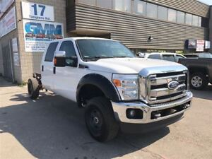 2013 Ford F-250 XLT Crew Cab Gas 4X4 Cab and Chassis