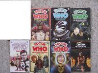 7 Doctor Who Target paperbacks - Deadly Assassin, Eden, Robot, Mandragora, Daleks, Face Of Evil