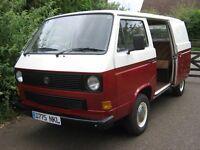 Volkswagen T25 Camper, panel van, Full MOT