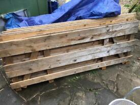Large timber crate lids x6 rustic fencing