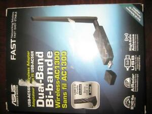 ASUS Wireless AC1300 USB WiFi Adapter / Dongle. Dual Band. High Fast Network Speed For Gaming, Stream TV, Android Box