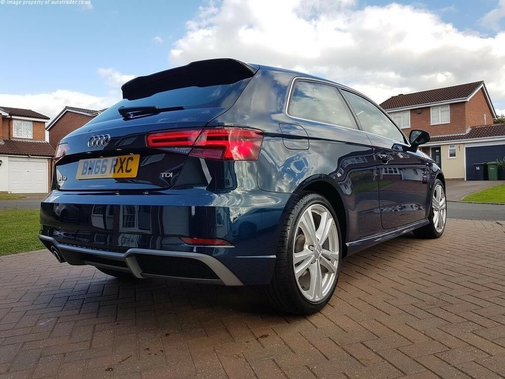 Audi A3 2017 S Line 17 Months Warranty Left Rare Cosmos Blue
