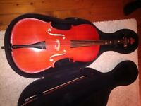 Cello with pod case. Very good condition. Cost £675 from Stringers. Sell for £375