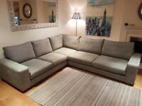 Large grey L shape sofa, excellent condition, price reduced