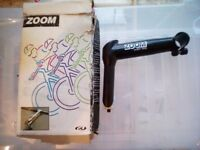Classic Brand New 90s BNIB Steel MTB ATB stem 135mm with quill for threaded fork by Zoom boxed