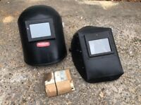 2x Welding Masks + 8 spare glass inserts Roebuck Made In England VGC