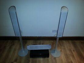 Home Cinema Amplifier Sansui & Sony Tower Speaker better sound bose samsung sonos pioneer yamaha