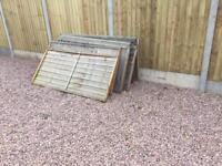 Fence panels. Garden sheds