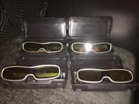 Panasonic TY-EW3D10E active 3D glasses x4