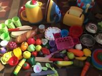 Children's kitchen - food and utensils