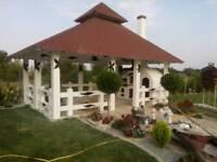 Gazebo - wood terrace extension