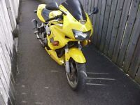 Yellow Honda Firestorm