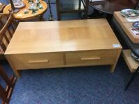 Modern light wood in colour coffee table with drawers #38898 £35