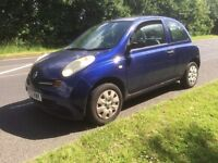 2003 NISSAN MICRA 1.0 PETROL MANUAL 4 MONTHS MOT VERY GOOD ON FUEL £399