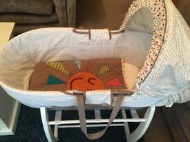 Mamas & Papas Moses, stand and sleeping bag