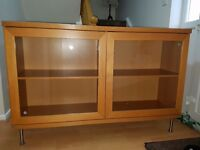 Large cabinet with glass doors