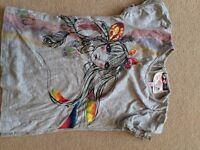 Butterfly Girl Grey T Shirt age 5