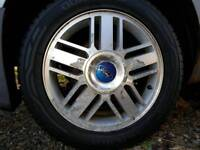 4 X Ford Alloys and Tyres. 16/205/55 5x108