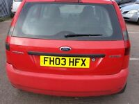 FORD FIESTA 1.4 ZETEC 2003 REG RED 5 DR