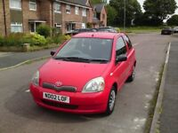 2002 TOYOTA YARIS 1.0 GLS 7 MONTHS MOT (JAN 19) SERVICE HISTORY EXCELLENT CONDITION AND RUNNER £695
