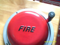 Vintage Bromco MK MW 13 rotary hand turned fire bell - BMC Metal N. Ireland