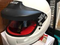 Sparco Yes carbon helmet with peltor intercom