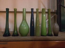 Vases for sale in groups or individually