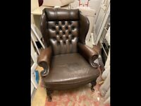 High back real leather armchair could deliver