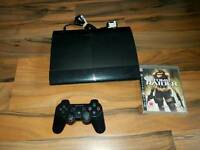 Sony ps3 superslim 12gb console working order
