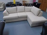 Brand New Fabric Corner Sofa With Chaise. L163cm By W245cm. Can Deliver