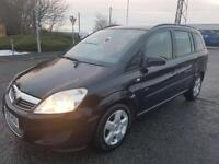 2008 VAUXHALL ZAFIRA 1.6 EXCLUSIVE FULL MOT FULL FULL VOSA HISTORY EXCELLENT CONDITION ONLY 72K MILE