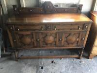 Beautiful arts and crafts antique oak drink cabinet