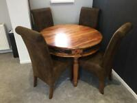 Beautiful Sheesham Dining Table & Chairs.