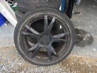 19 inch 5 x 112 alloy wheels to suit vw etc.