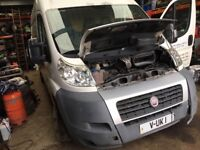 Fiat Ducato 2009 year breaking parts available door wing bonnet bumper radiator seats