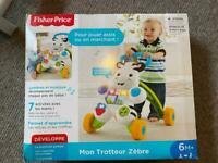 Fisher-Price First Steps Talking Zebra, Baby Walker