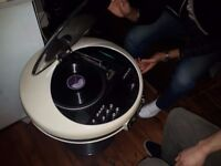 Record Player Original 1971 Weltron 2007 With Speakers