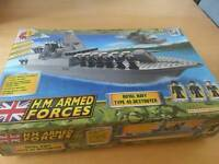 TOY H M Forces Royal navy Type 45 Destroyer building bricks toy