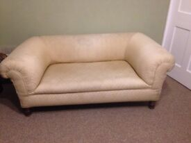 Original 1920's Chesterfield 2 seater sofa. Unbuttoned and needs recovering.