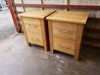 Barker and Stonehouse pair oak bedside drawers (Delivery available)