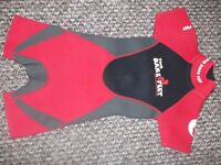 2 no kids wetsuits, (2 barefeet 5-7yrs , osprey 7-9 yrs) sizes are approx, £5 each