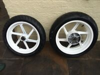 Honda Fireblade Set of Wheels and Tyres