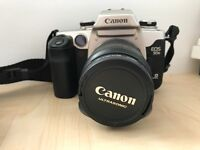 Canon EOS 35mm SLR Camera, lens, flash, case