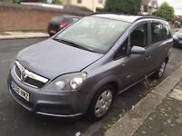 Vauxhall Zafira 2006 Life, 7 seater, only 75k miles, 1.6 L petrol manual, MOTed 05/2017