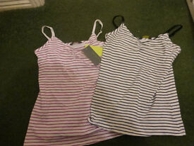 Two brand new Mothercare vest feeding tops