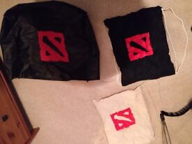 Dota2 3 Ti7 bags and bandana