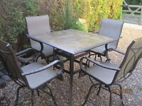 patio bar table and chairs,