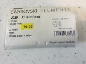 Swarovski ss20 hot fix crystals clear 10 gross =1440 pieces retiring so selling stock off £ 40.00