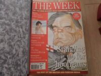 THE WEEK MAGAZINE - BRITISH AND FOREIGN MEDIA NEWS - approx. 80 magazines from 1990's