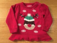 Xmas Jumpers - Baby Girl 6-9 & 12-18 months